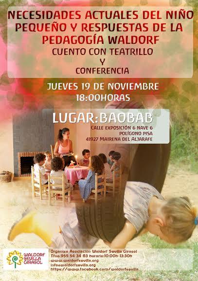 Conferencia en la librería Baobab del polígono Pisa el próximo 19 de noviembre.
