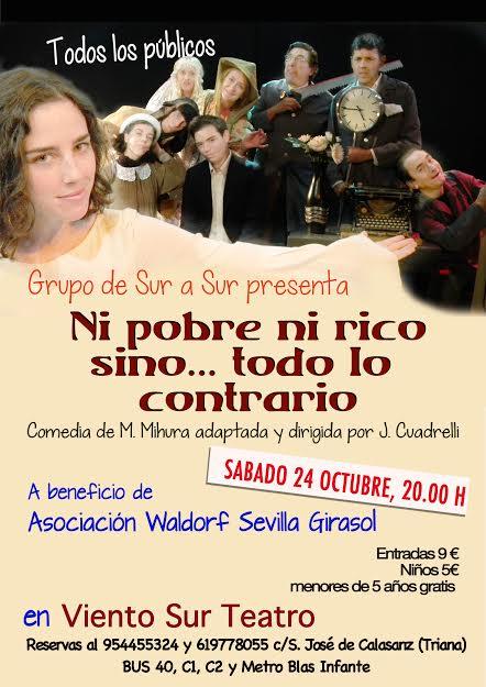 Obra de teatro en Viento Sur a beneficio de la Asociacion Waldorf Girasol el próximo sábado 24.