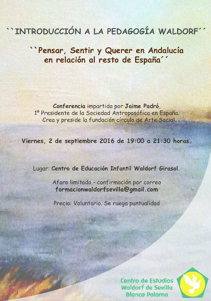 """Conferencia """"Pensar, Sentir y Querer en Andalucía"""""""