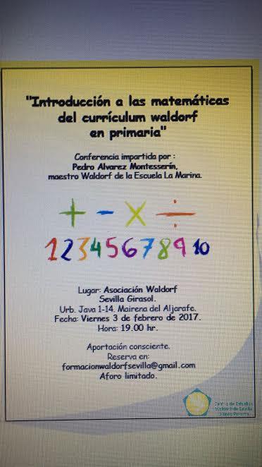 Introducción a las matemáticas de primaria Waldorf_Pedro Álvarez Monteserín 3 de febrero.
