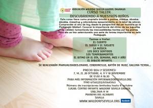Cartel Curso-Taller Decubriendo a nuestros niño- Edición de Otoño