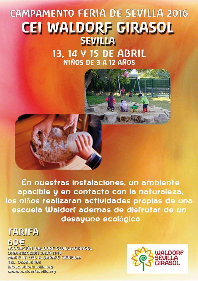 Cartel Campamento Feria