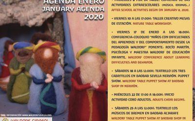 Calendario Enero 2020/ January Agenda