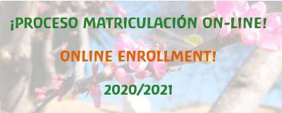 Abierto periodo de matriculación 2020/21